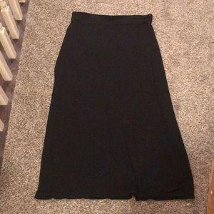Liz Claiborne Black Stretchy Maxi Skirt